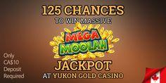 Mega Moolah, Casino Promotion, Yukon Gold