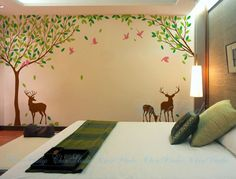 Hey, I found this really awesome Etsy listing at https://www.etsy.com/listing/155261657/nature-tree-forest-vinyl-wall-decals-kid