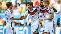 Man of the Match Thomas Muller good game Germany I don't know what happened to Portugal World Cup 2014 Lionel Messi, Brazil Vs Germany, Brazil Brazil, Germany Soccer Team, Argentina World Cup, Fifa 2014 World Cup, German National Team, Portugal, Thomas Muller
