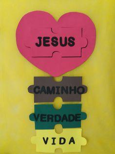 8- O Caminho, a Verdade e a Vida   Objetivo : Mostrar através da Palavra,que Jesus que é a Palavra, é o único que nos guia até o céu, e para... Bible Activities, Activities For Kids, Crafts For Kids, Bible School Crafts, Bible Crafts, Children's Church Crafts, Sunday School Classroom, Christian Kids, Teen Kids