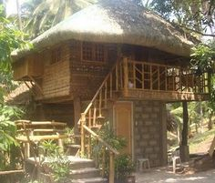 This is 2 storey modern design of Nipa Hut Philippines for more bahay kubo design , you just proceed here. Philippine Architecture, Filipino Architecture, Cebu, Bahay Kubo Design Philippines, Filipino House, Hut House, Tiny House, Bamboo House Design, Philippine Houses