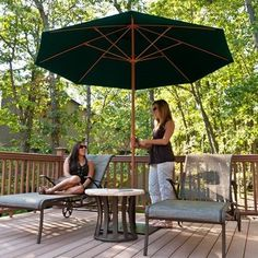 Frankford Umbrella Monterey Collection 11 ft.Solid Commercial Fiberglass Market Umbrella with Crank No Tilt