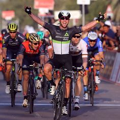 Mark Cavendish wins Stage 1 Abu Dhabi Tour 2017 @tdwsport