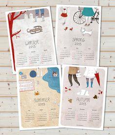 Wall calendar 2013   Nuria Diaz