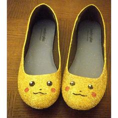 Pikachu shoes guaranteed to capture man's attention ❤ liked on Polyvore