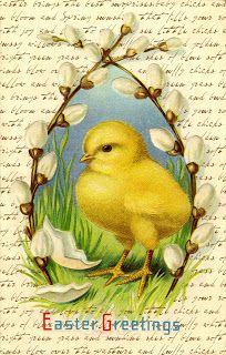 Crafty Secrets Heartwarming Vintage Ideas and Tips: Free Easter Printables, 17 Healthy Easter Treats and Fab Spring DT Samples! Easter Art, Hoppy Easter, Easter Crafts, Easter 2013, Vintage Greeting Cards, Vintage Postcards, Images Vintage, Diy Ostern, Easter Parade
