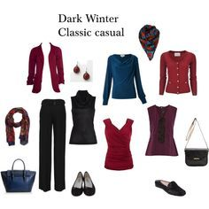 Colour Analysis- Deep Winter, Dark Winter Classic love the colors! Deep Winter Palette, Deep Winter Colors, Deep Autumn, Dark Colors, Cool Winter, Winter Typ, Dark Winter, Rock Chic, Capsule Wardrobe