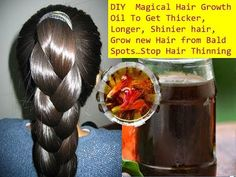 How To Make Homemade Herbal Oil For Growing Your Hair 1 Inch In 7 Days! - My Healthy Feed
