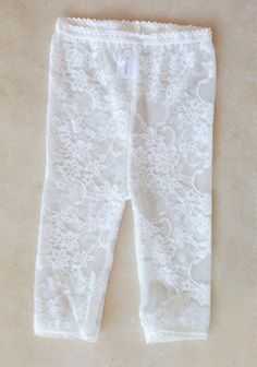 Lacy Leggings In White at #Ruche @shopruche (also in pink)