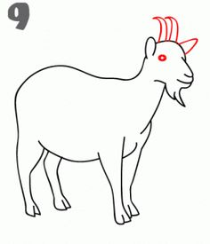 Drawing for the little ones on Pinterest | How To Draw, A ... Goat Face Side Drawing