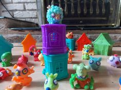 Zomlings. Love these, especially the stackable tower blocks.