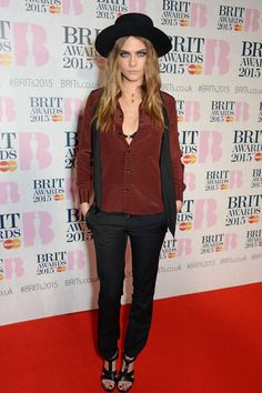 Pin for Later: Seht alle Stars bei den BRIT Awards! Cara Delevingne