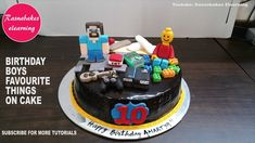 minecraft lego cricket playstation childrens birthday cake design ideas decorating tutorial video at home for boys and girls or birthday cakes for 10 year ol. Simple Birthday Cake Designs, Cake Designs For Kids, Simple Cake Designs, Cake Decorating Designs, Cake Decorating For Beginners, Cake Decorating Classes, Easy Cake Decorating, Decorating Ideas, Cartoon Birthday Cake