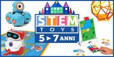 13 giocattoli STEM più belli del momento (5-7 anni) La fascia 5 - 7 anni è veramente un'età favolosa per trovare giocattoli STEM. A questa età i bambini sono estremamente curiosi, hanno sviluppato grandi capacità fisiche e riescono ad esprimere molto  #giocattoli