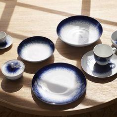 Maine, Blue Pottery, Blue Hour, Blue Plates, Dessert, Habitats, Tea Time, Tableware, Kitchen
