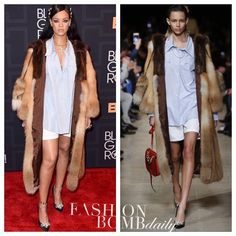 @badgalriri #Rihanna wore a head-to-toe #phreshouttherunway look from @miumiu 's Fall 2016 collection to accept the Rock Star award at last night's #BlackGirlsRock awards show. Hot! Or Hmm...? #instafashion #style #instastyle #fashionbombdaily #celebritystyle #fashion #miumiu #blackgirlmagic