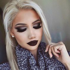 Stunning fall makeup by Alina Gea @shophudabeauty faux mink lashes in Farah ??????????????????
