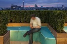 'Hedge Your Bets Secret Garden' on roof terrace Google Office, Ricardo Bofill, Pony Wall, Healthy Mind And Body, Google S, New London, Coworking Space, Covent Garden, Garden S