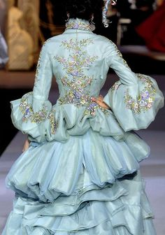 Details at Christian Dior Couture F/W 2007 #rococco return
