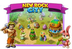 New Rock City: Easter 1026 Create Yourself, Create Your Own, Paradise City, Prehistoric, Easter, Rock, Stone, Easter Activities, Prehistory