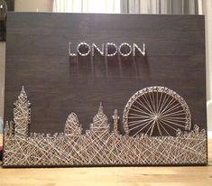 Я уеду жить в Лондон... Основа дуб! Размер любой. Под заказ❗️#detalistringart #stringart #гвоздинитки #лондон #skyline #отличныйподарок #подарок #интерьер #картина #панно #дерево#идеидлядома#деталиинтерьера