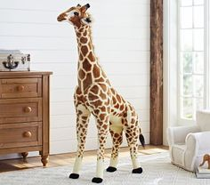 Shop Pottery Barn Kids' Glam Modern Chrome Baby Nursery for gender neutral nursery ideas and more. Discover a range of nursery themes and styles at Pottery Barn Kids. Safari Theme Nursery, Giraffe Nursery, Jungle Nursery, Jungle Safari, Themed Nursery, Safari Room, Jungle Bedroom, Baby Bedroom, Safari Animals
