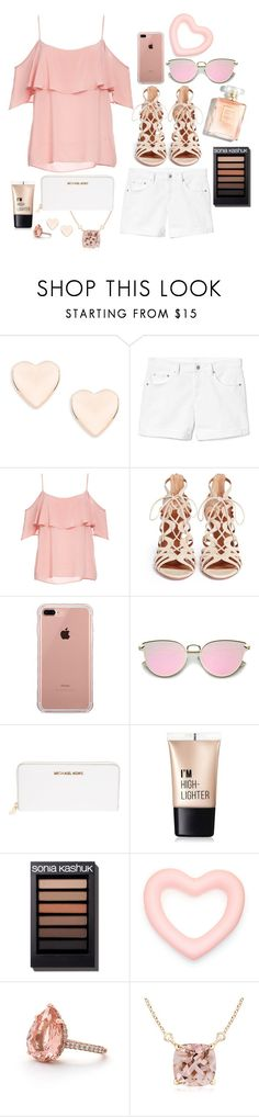 """""""Summer"""" by little-papillon ❤ liked on Polyvore featuring Ted Baker, Gap, BB Dakota, Aquazzura, Belkin, MICHAEL Michael Kors and Charlotte Russe"""