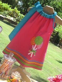 Sweet Treats Dress by petitecoutureltd. Such a cute pillowcase dress!