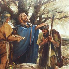 Melchizedek Blesses Abram, Walter Rane. After Abraham rescued his brother's son he was et by Melchizedek at the valley of Shaveh.
