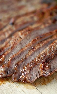 Grilled Honey and Ginger Marinated Flank Steak - (Free Recipe below) Grilled Steak Recipes, Grilled Meat, Pork Recipes, Healthy Recipes, Game Recipes, Healthy Food, Barbecue Recipes, Grilling Recipes, Cooking Recipes