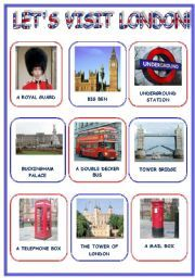 English worksheet: LET´S VISIT  LONDON! (3 pages)