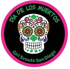 New at Girl Scouts San Diego!!! Dia de los Muertos Patch.