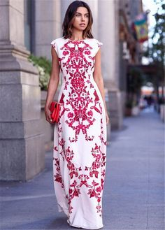 Sexy Women Summer Boho Long Maxi Evening Party Gown Beach Floral Cocktail Dress #NEW #Maxi #Cocktail