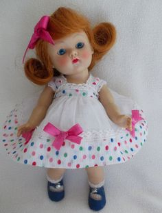 Vogue Strung Ginny Doll  April #24 1953 Kindergarten Afternoon Series Beautifu!! #DollswithClothingAccessories