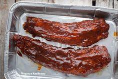 MK--zeberka--w-sosie--bbq Milanesa, Żeberka Bbq, Coleslaw, Bacon, Grilling, Pork, Meat, Breakfast, Recipes