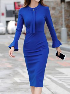 Buy Crew Neck Plain Bodycon Dress online with cheap prices and discover fashion Bodycon Dresses at fashionme to be fashionable now. Boho Dress, Dress Skirt, Bodycon Dress, Kimono Dress, Cheap Dresses, Nice Dresses, Awesome Dresses, Dresses Short, Elegant Dresses