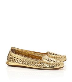 These Tory Burch Metallic Moccasins ARE HEAVEN