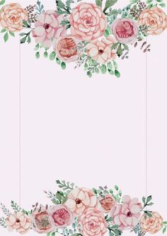 Pink floral wedding poster background material