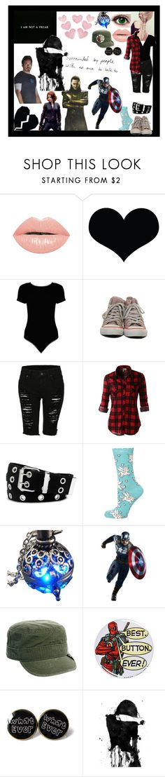 """""""Jail break"""" by thin-mint on Polyvore featuring The Lip Bar, Brika, Boohoo, LE3NO, Relic, Dorothy Perkins, SCARLETT, York Wallcoverings, Goorin and WALL"""
