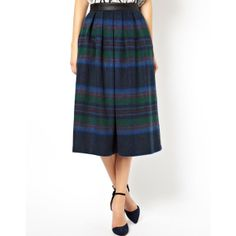 < don't think just midi > // ASOS Midi Skirt in Statement Check //