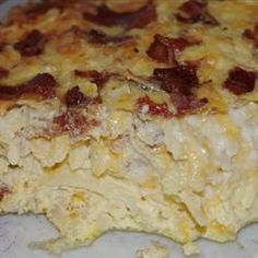 One of my son-in-law's favorites  Amish Breakfast Casserole. Another pinner says.....This is one of thee best breakfast casseroles. I have been making this a couple years now...WONDERFUL!