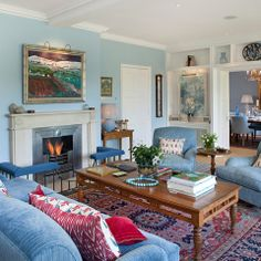 Blue Rooms Design Ideas, Pictures, Remodel and Decor