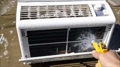 How to Clean a Window Air Conditioner...I think I'll need to do this before summer hits.
