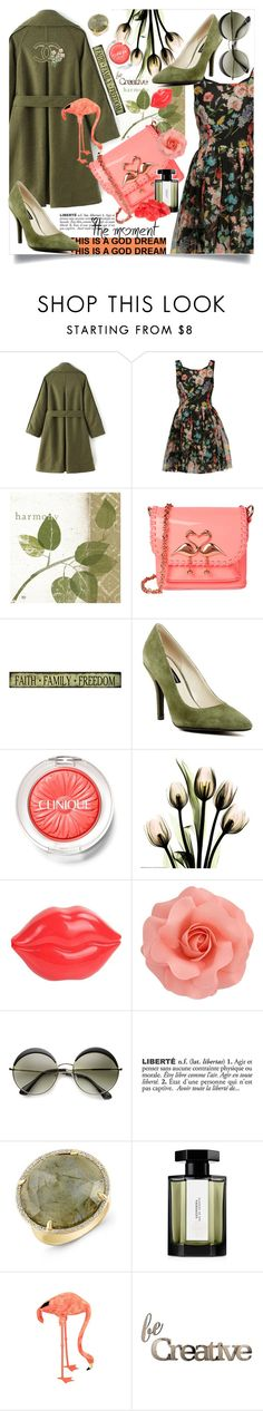 """""""Bella Ciao"""" by wuteringheights ❤ liked on Polyvore featuring Dolce&Gabbana, Sophia Webster, Chinese Laundry, Clinique, Tony Moly, ZeroUV, ADZif, Chanel, Anne Sisteron and L'Artisan Parfumeur"""