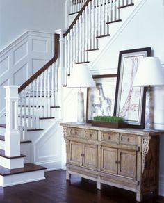 Clapboard Hill Home Entry Stairs, Entry Foyer, Design Blog, Design Ideas, Modern Interior Design, Interiores Design, My Dream Home, Stairways, Decoration