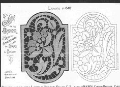 Bobbin Lace Patterns, Lace Embroidery, Lace Making, Cutwork, Needlework, Projects To Try, Arts And Crafts, Sketches, Symbols