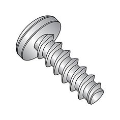 #8-15 Thread Size Plain Finish Phillips Drive 1-1//2 Length Pack of 2000 Pan Head 18-8 Stainless Steel Sheet Metal Screw Type A