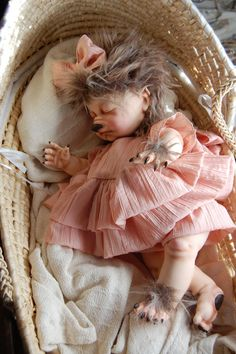 Baby Werewolf Pup  OOAK Art Doll by MotherOfMonsters on Etsy