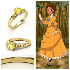 Disney Princess Jewelry, Disney Jewelry, Disney Theme, Disney Style, Disney Enchanted Jewelry, Disney Wedding Rings, Baby Dolls For Kids, Estilo Disney, Cute Rings
