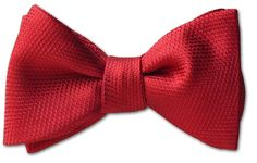 Premium crimson red silk bow tie. Premium wovenSilk. American Made Bow Ties.